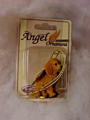 GOLDEN DOODLE dog ANGEL Ornament Figurine NEW Christmas GOLDENDOODLE puppy
