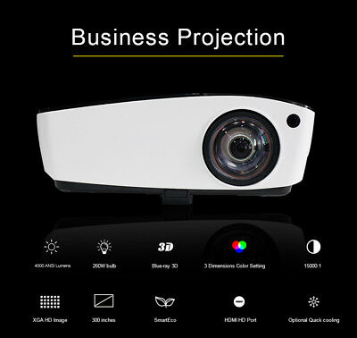 2017Ultra Short Throw6500 Lumen Home Theater Projector for Church School Office
