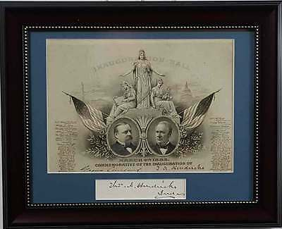 1885 Grover Cleveland Inaugural Ball Invitation Card SIGNED