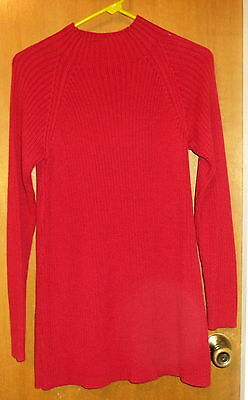 In Due Time  Maternity Red Long  Pullover Sweater Top Size M