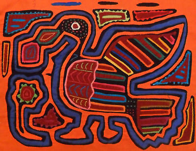 Kuna Tribe Bird Mola Panama Art 15.60981