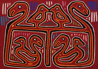 Kuna Tribe Birds Mola Panama Art 15.60972