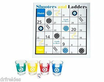 New Trademark Shooters & Ladders Drinking Game Set