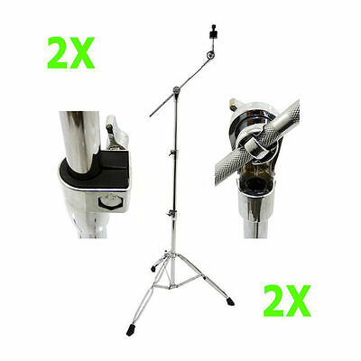 2 X Boom Arm Cymbal Stands Heavy Duty DP Percussion CB3516 5 Year Warranty