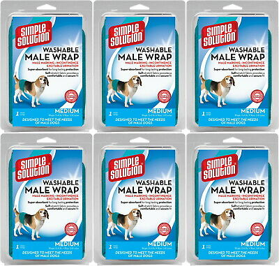 Simple Solution Washable Male Wrap Medium 6pk
