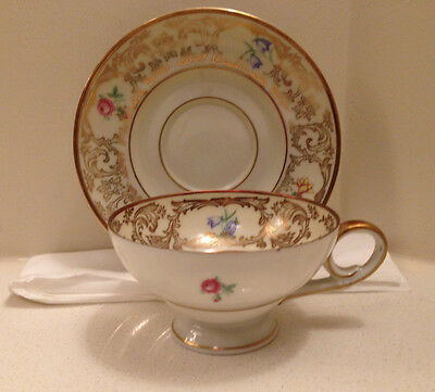 Bavaria Tirschenreuth Germany  Demi Tasse Floral Cup And Saucer Us Zone