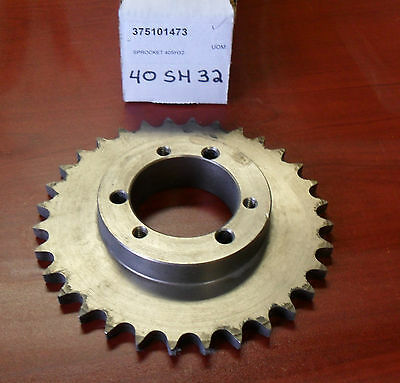 Sprocket 40SH32 pitch #40 - 32 teeth for bushing SH steel  w free shipping