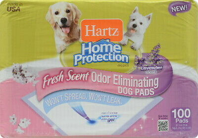 Hartz Home Protection Lavender Odor Eliminating Dog Pads 100ct