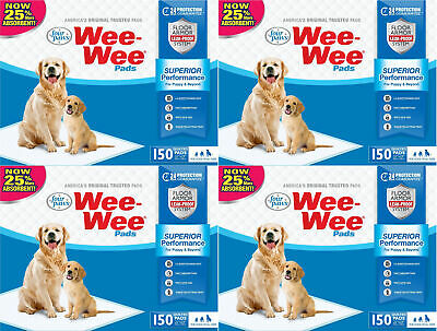 "Four Paws 22"" x 23"" Wee Wee Pads, 600ct (4 x 150ct)"