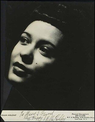 Billie HOLIDAY (Jazz): Signed Photo to the Dancing Nicholas Brothers