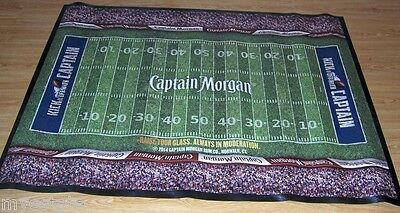 NEW Barware Rubber Duramat 3'x4' KICK OFF WITH CAPTAIN MORGAN Door Mat Football