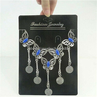 50X Black Paper Statement Necklac Dangle Earring Stud Ring Display Hanging Card
