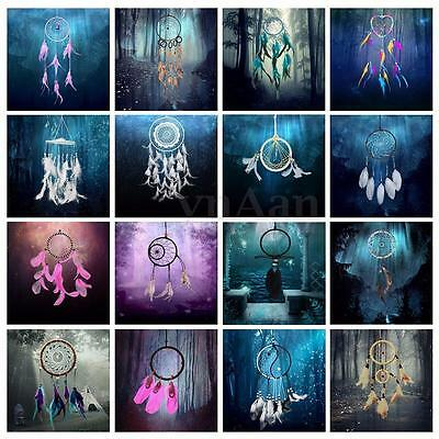 Indian Handmade Dream Catcher Feather Wall Car Hanging Decor Ornament Craft Gift