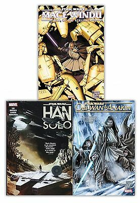 Star Wars 3 Book Collection Set Pack Han Solo, Obi-Wan and Anakin NEW