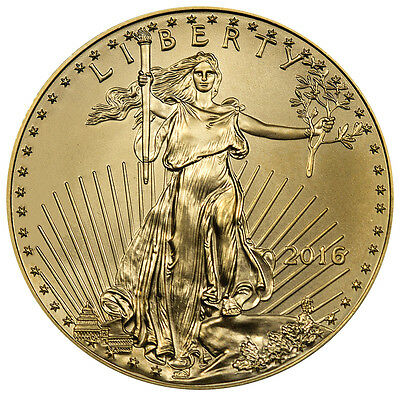 2016 $50 1 Troy Oz Gold American Eagle Coin SKU38304