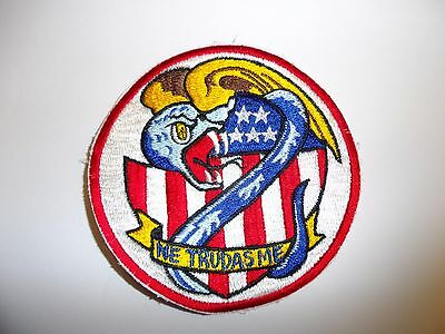 b8977 US Navy Korea VF 123 Fighter Squadron Blue Racers first version ir28f