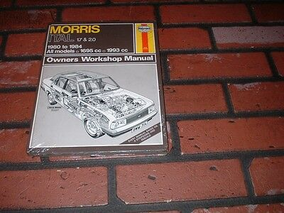 New Sealed Haynes Manual For Morris Ital. 1.7 & 2.0. 1980 To 1984.