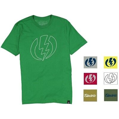 NEW Electric Visual Volt Mens S,M,L,XL,XXL Snow Skate Cotton Tee Shirt Msrp$22