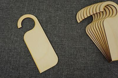10x Wooden Bookmarks Shape Plaque Plain Tags Blank Book Decoration Craft Art W84