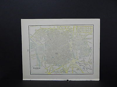 Madrid or Spain & Portugal Map Double Sided W18#80