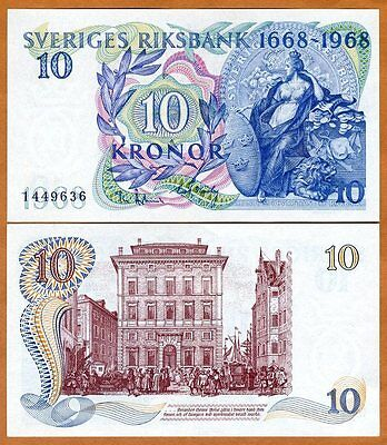 Sweden, 10 Kronor, 1968, Pick 56, UNC   Commemorative