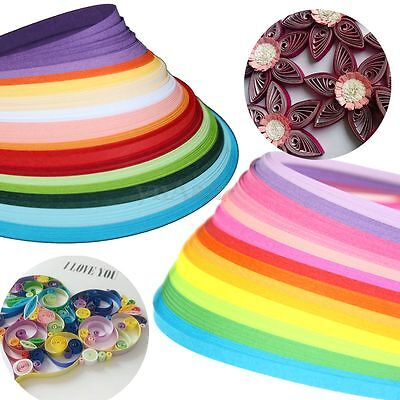 160 Strips 3*390mm/5*530mm Paper Quilling Papercraft DIY Tool Kit For Scrapbooks