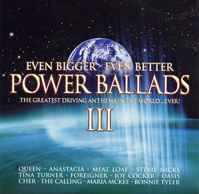 Various Artists : Even Bigger, Even Better Power Ballads CD (2004)