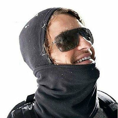 Winter Motorcycle Ski Full Face Neck Mask Cover Hat Cap Thermal Fleece Balaclava