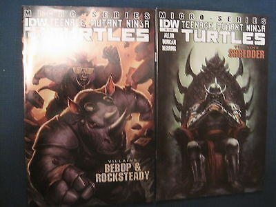 TEENAGE MUTANT NINJA TURTLES VILLAINS MICRO SERIES #s 7,8.EASTMAN,LAIRD.IDW.2012