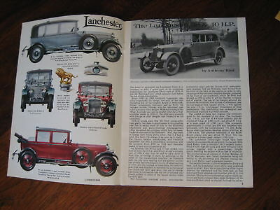 Lanchester 38 & 40 hp illustrated booklet, Profile # 5