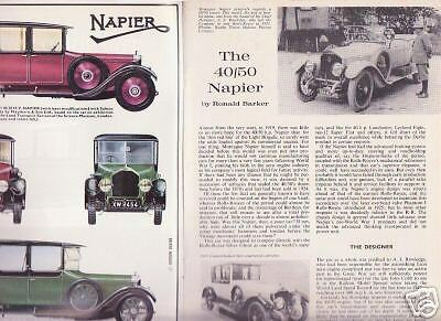 40/50 Napier, well illustrated 1966 booklet Profile #17