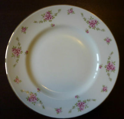 Royal Osborne Princess White Mist Dessert Plate Dainty Pink Roses several avail