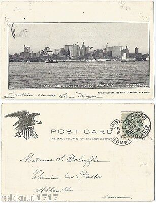 CPA postal card postcard 1905 View of NEW YORK from North River NY USA [494 A]