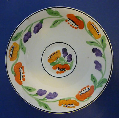 Hancock's Ivory Ware Hand Painted Saucer