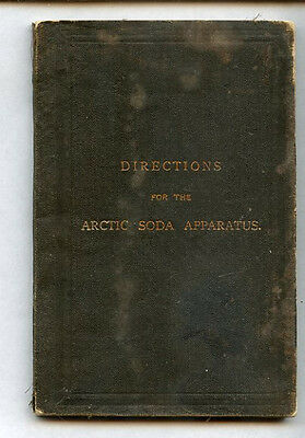 Antique Tufts Arctic Soda Apparatus Directions Manual Recipes Syrups Accessories