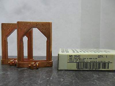 New Lot Buss Bussmann Fuse Reducers  Buss 2642 200 to 400 Amps NIB