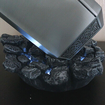 1:1Thor Hammers Replica Stand Base The Avengers 2 LED Base Platform Cosplay Prop