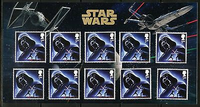 Great Britain Star Wars Darth Vadar  Presentation Pack Of Ten Stamps As Issued
