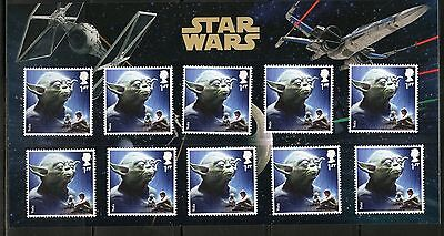 Great Britain Star Wars Yoda  Presentation Pack Of Ten Stamps As Issued
