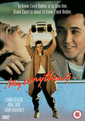 Say Anything... DVD (2002) John Cusack, Crowe (DIR) cert 15 Fast and FREE P & P