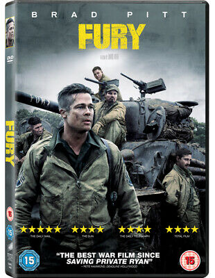Fury DVD (2015) Brad Pitt, Ayer (DIR) cert 15 Expertly Refurbished Product