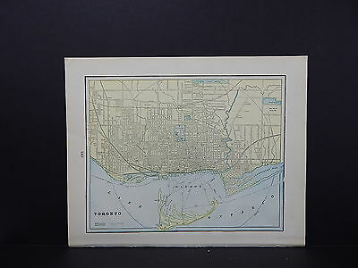 Map, City of Toronto, Canada Double-Sided S2#02