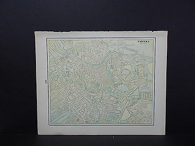 Map, City of Vienna, Austria Double-Sided S2#06