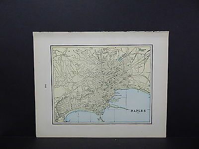 Map, City of Naples, Italy Double-Sided S2#09