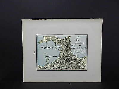 Map, City of Alexandria, Egypt Double-Sided S2#10