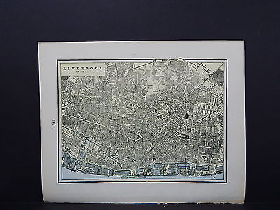 Map, City of Liverpool, England S2#11