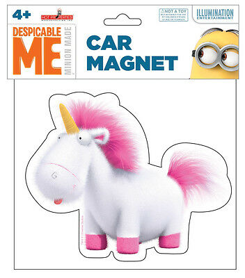 Despicable Me Movie Stuffed Unicorn Toy Large Car Magnet, NEW UNUSED