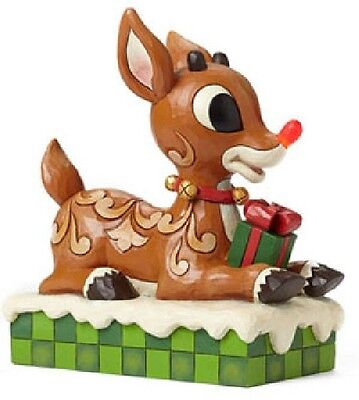 Rudolph Jim Shore FIGURINE*4048591*WITH LIGHT UP NOSE*mint in box*FREE SHIPPING!