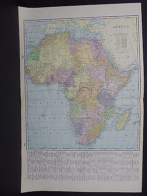 Map, Africa, 1899 George F. Cram Double Sided W18#56
