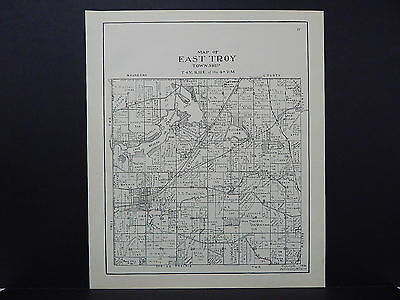 Wisconsin, Walworth County Plat Map 1936 #11 East Troy Township